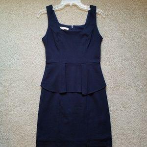 Boston Proper Blue Peplum Dress Size 6
